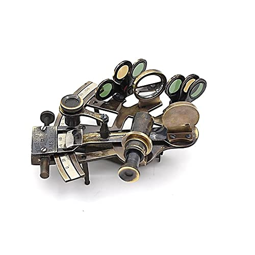 RII Vintage Brass Telescope with Tripod Stand//Antique Desk Top Telescope for Home Decor//Nautical Spyglass Telescope for Navy and Outdoor Adventures