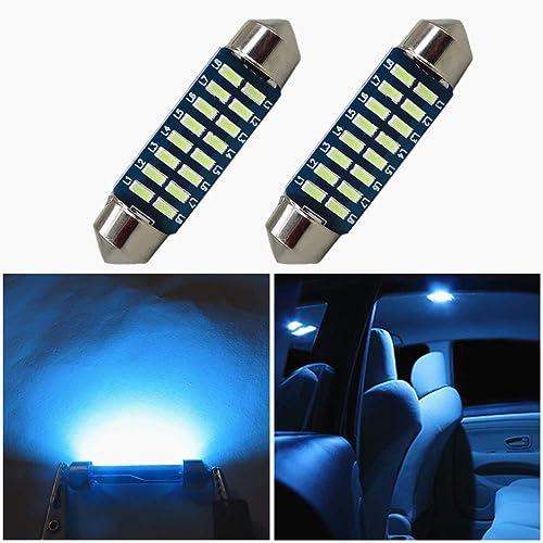 iDlumina Festoon 41mm 42mm C5W 561 562 563 564 566 567 570 578 6411 6451 6475 6476 7576 211-2 212-2 212-2 12V 6500K Pure White Canbus Error Free LED Car Light Bulb 6X5730SMD Pack of 2