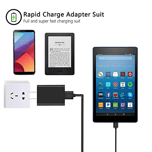 Extra Long AC Adapter Charger Cord for LG G Pad V700 VK810 LGV495 LGV700 LK430