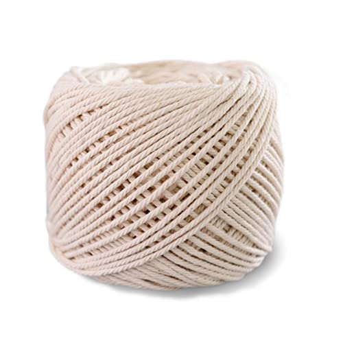 GIEMSON Macrame Cord 3mm x 328Yards Plant Hangers Natural Cotton Macrame Rope Decorative Projects Crafts 3 Strand Twisted Cotton Cord for Wall Hanging Soft Undyed Cotton Rope Knitting