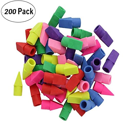 50 Count Per Pack Emraw Bulk Pencil Top Erasers 50 Pieces Cap Erasers Pencil Eraser Toppers Perfect for Kids Girls School Supplies Boys