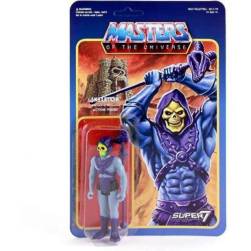 Masters of The Universe x Super7 Reaction Mini Action Figure Skeletor 03537 1 Superhero Themed Trading Card Bundle