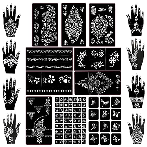 Koogel Henna Tattoo Stencil Kit 97pcs Temporary Glitter Airbrush Tattoo Stencils Arabian Tattoo Stickers For Face Paint Body Art Buy Products Online With Ubuy Qatar In Affordable Prices B083k5my41