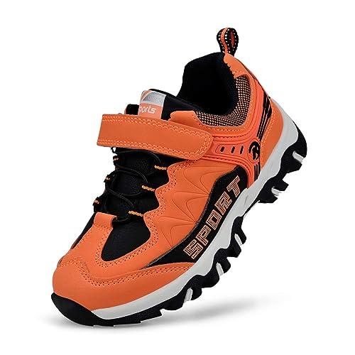 Feetmat Kids Hiking Shoes Waterproof Athletic Trail Running Sneakers Boys Girls Dark Grey