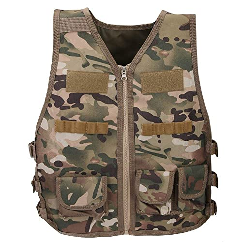Alomejor Children Camouflage Vest Outdoor Games Training Nylon Vest Combat Training Vest For Outdoors Games