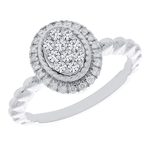 Prism Jewel 0.30 Carat G-H//I3-PK Round Cut Natural Diamond Anniversary Ring