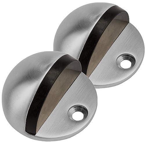 Kitchen CBTONE Wall Mount Soft-Catch Magnetic Door Holder Heavy Duty Doorstops for Garage 2 Pack Stainless Steel Magnetic Door Stop in Brushed Satin Nickel Bedroom Bathrooms