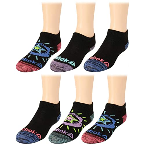 12 Pack Reebok Girls Cushioned Comfort No-Show Ankle Low Cut Socks
