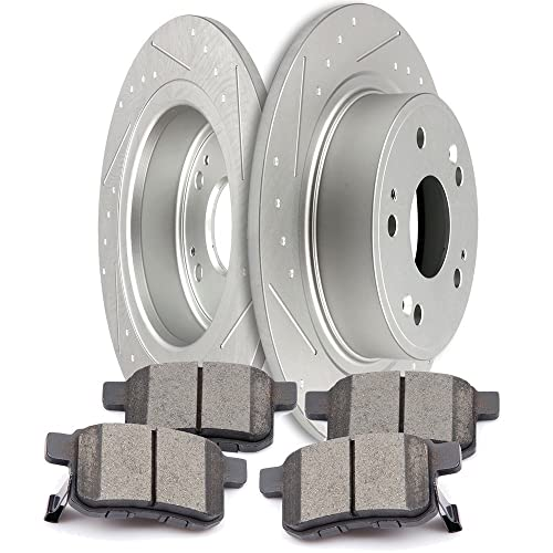 10.91 in OE Replacement Rotors w//Z16 Ceramic Scorched Brake Pads Autospecialty By Power Stop 1-Click Daily Driver Brake Kits Power Stop KOE4837 Autospecialty By Power Stop 1-Click Daily Driver Brake Kits Front Incl