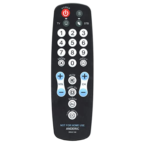 NEW ANDERIC 1-Device Universal Remote Control RRH100 Hospitality TV RRH100