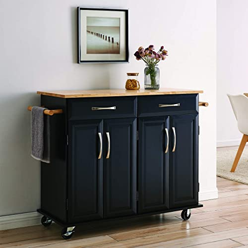 Belleze Portable Kitchen Island Cart Wwood Top 2 Towel Racks Drawers Cabinets Wadjustable Shelves Buy Products Online With Ubuy Qatar In Affordable Prices B07n59tv34