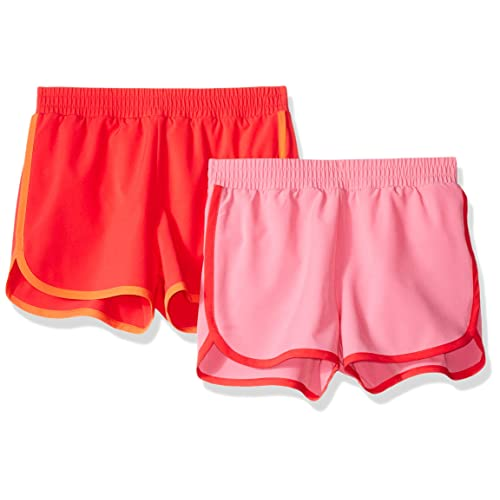 Essentials Girls 2-Pack Pull-on Woven Shorts