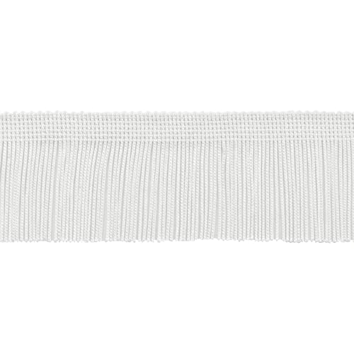 DecoPro 11 Yard Value Pack of 2 Inch Chainette Fringe Trim A1 32.5 Feet // 10M Style# CF02 Color: White