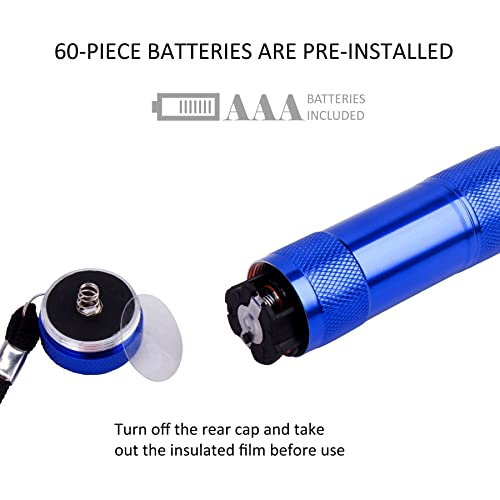 Super Bright 100-Lumen LED Mini Flashlight Set 30-Pieces AAA Dry Batteries are Included and Pre-Installed 1W FASTPRO 10-Pack