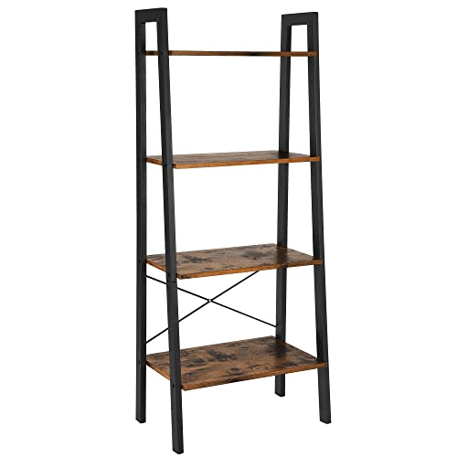 Songmics 4 Tier Ladder Shelf Bookcase Garden Bathroom Storage Vintage Ulls44x Buy Products Online With Ubuy Qatar In Affordable Prices B074x7wt6d