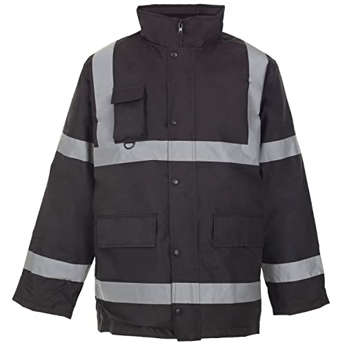 Size UK SM ML L XL XXL XXXL H/&F Girl  /®Mens Rainsuit Hi Viz Waterproof Storm Jacket Workwear Security Coat