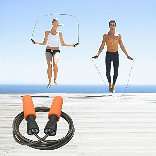 YZLSPORTS Adjustable Heavy Weighted Jump Rope Carrying Pouch Fitness Factor Ergonomic Durable Easy to Adjust Profession Premium Jump Rope for Men Women Children of All Heights and Skill Levels