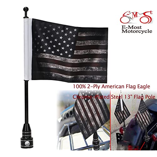 POW-MIA Motorcycle Flags 6 inch x 9 inch Exclusively Pro Pad New 2-Pack USA