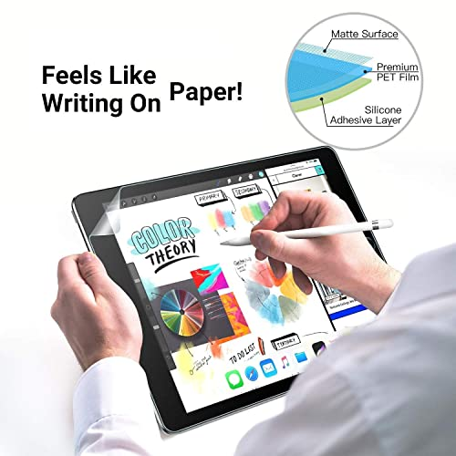 TiMOVO Screen Protector Paper-Like fit for iPad Pro 11 2018, Anti Reflection PET Film for Apple iPad Pro 11 inch 2018 Tablet Paper-Like Film Writing Clear