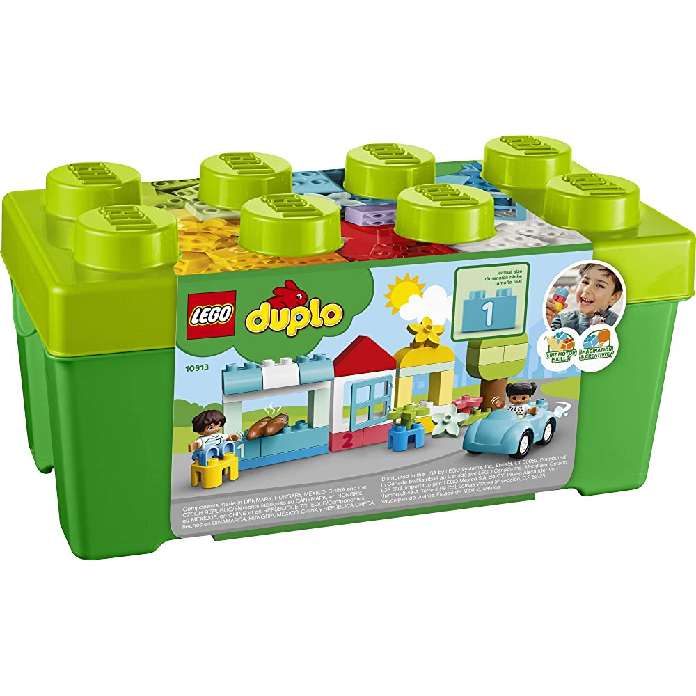 LEGO DUPLO Classic Brick Box 10913 First Set with Storage ...