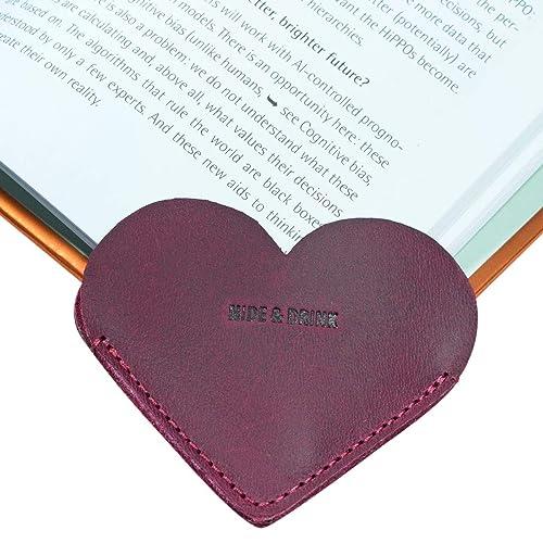 Slate Blue Leather Bookmark Handmade by Hide /& Drink