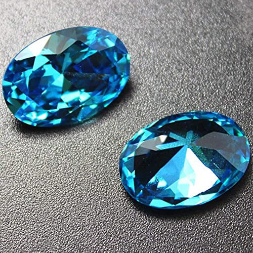 Sapphire Oval Faceted Gemstone Egg Shape Sapphire Gem Multiple Sizes to Choose C07S
