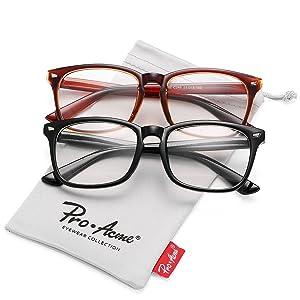 805b3d6c04 Pro Acme New Wayfarer Non-prescription Glasses Frame Clear Lens Eyeglasses