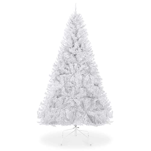 Best Choice Products 6ft Premium Hinged Artificial Christmas Pine Tree Wsolid Metal Stand 1 000 Tips White Buy Products Online With Ubuy Qatar In Affordable Prices B07k4ht2z6