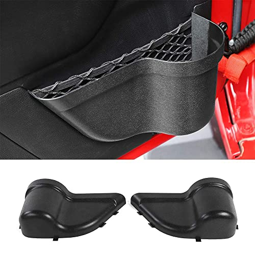 Salusy Front Door Pockets Storage Inserts Side Organizer Box Compitable for Jeep Wrangler 2018-2020 JL Interior Accessories