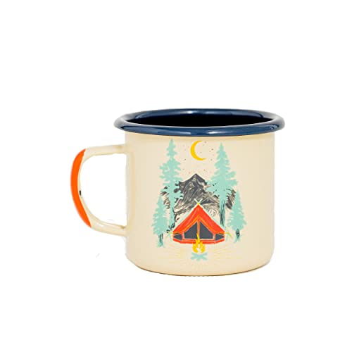 United By Blue Camping Tea Campfire and Stovetop Safe/… 12oz Enamel Steel Mug Great for Coffee Hand Dipped