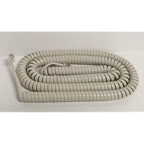 KX-DT KX-NT Phone The VoIP Lounge 9 Ft White Handset Receiver Curly Coil Cord for Panasonic KX-T