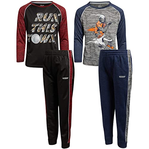 2 Full Sets Toddler//Little//Big Boys Hind Boys Athleisure T-Shirt and Jogger Track Set