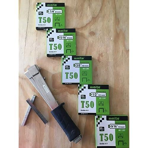 meite 20GT50S516 Genuine T50 Series 5//16-Inch Leg Length Staples 1512-Pack(30 boxes//case) 1 Case 30 Packs