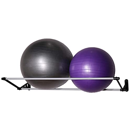 """Vita Vibe Wall Storage Rack for Exercise//Yoga//Stability Balls 5/"""" to 14/"""" for Storing Ball Sizes 12cm to 36cm"""