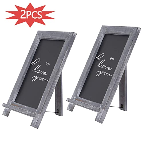 Buy 2pcs Small Chalkboard Easel Sign Rustic Wood Tabletop Chalk Board With Frame Menu For Kitchen Home Bar Countertop Wedding Cafe And Restaurant Online In Qatar B081r696lt