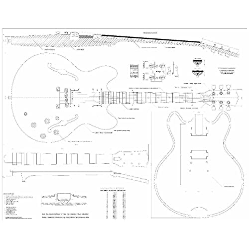 Buy Set of 2 Guitar Plans - Gibson ES-335 and Gibson CS-356 ... G Gretsch Wiring Diagram on
