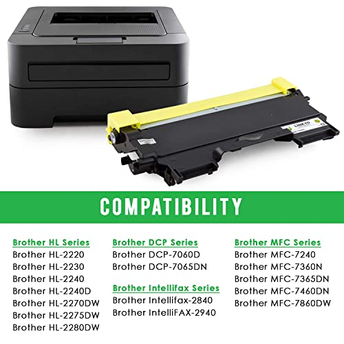 2x TN450 Toner For Brother TN420 HL-2270DW 2280DW MFC-7360N DCP-7060D DCP-7065DN