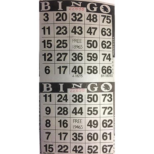 Choose Color Below American Games 3000 Paper Bingo Cards-2 Cards per sheet-1500 Sheets