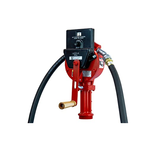 Suction Pipe Fill-Rite FR156 Piston Hand Pump with Meter Discharge Hose and Nozzle Spout Tuthill