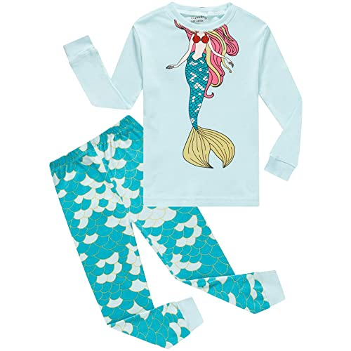 Dolphin/&Fish Girls Pajamas Toddler Cotton 2 Piece Pjs Kids Sleepwear Clothes Sets