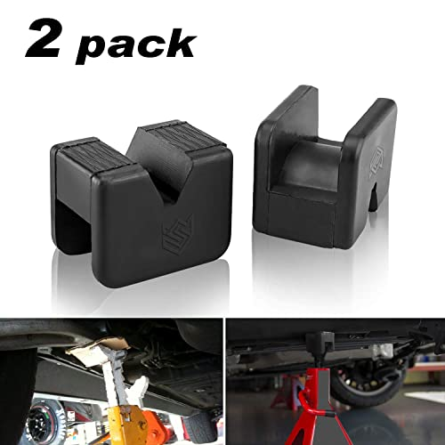 Rubber Jack Pads for Jack Stands Universal Slotted Frame Rail Protector Pinch Weld Paint and Metal Protector Pack of 2