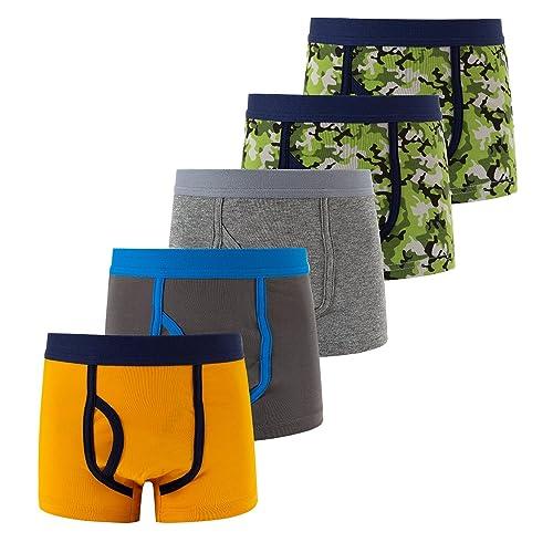 Briefs Kids Spandex Underwear Soft Active Kids Briefs 100/% Cotton Pack of 4