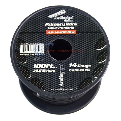 1000 AUDIOPIPE; RED Black Nippon Power Audiopipe CABLE18BLACK Speaker Cable 18 GA