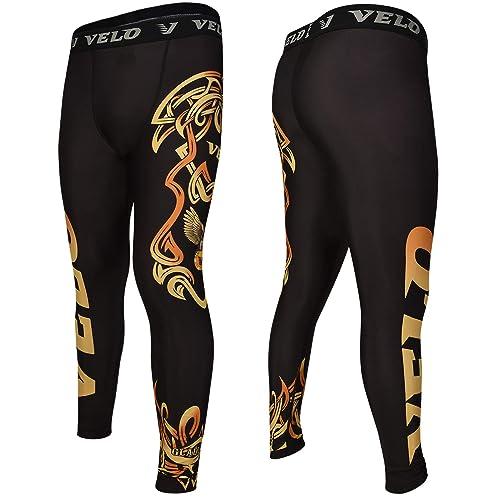 VELO Rash Guard MMA Shorts Compression Training Leggings MMA Fitness Exercise