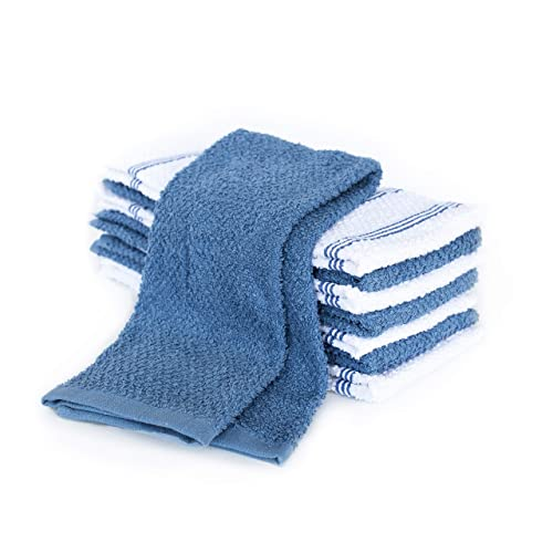 Kaf Home Pantry Set Of 8 Piedmont Kitchen Towels Set Of 8 16x26 Inches Ultra Absorbent Terry Cloth Dish Towels Dark Gray Dutch Blue Kitchen Towel 16x26 Buy