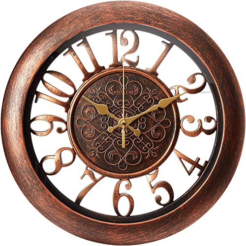 Buy Adalene Wall Clocks Battery Operated Non Ticking Completely Silent Quartz Movement Vintage Rustic Clocks For Living Room Decor Kitchen Bedroom Bathroom Modern Retro Wall Clock Large Decorative Online