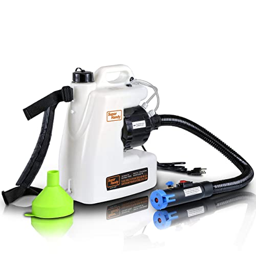 SuperHandy Fogger Machine Disinfectant Fogger Atomizer Spray Mist Duster ULV Sprayer 3GAL 1-15GPH Mist Blower Adjustable Particle Size 0-50/μm//Mm with Extended Commercial Hose /& Spray Nozzle
