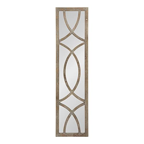 Buy Kate And Laurel Tolland Wood Framed Panel Wall Mirror 12x48 Brown Online In Qatar B07jp1kzsw