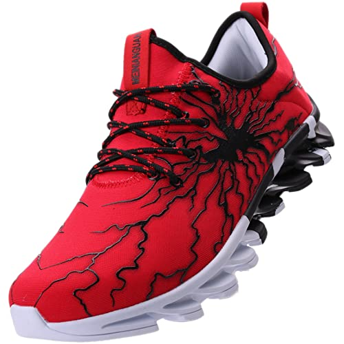 QANSI Mens Tennis Shoes Spiderman Graffiti Fashion Sneakers Breathable Sports Running Shoes for Basketball