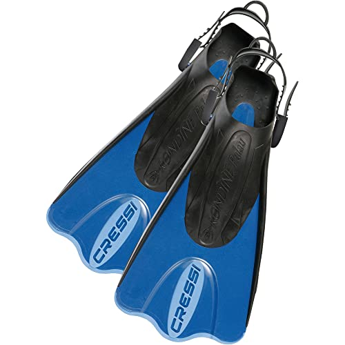Cressi Snorkeling Adjustable Fins Palau LAF Made in Italy by Quality Since 1946 Long Versatile Open Heel Flippers